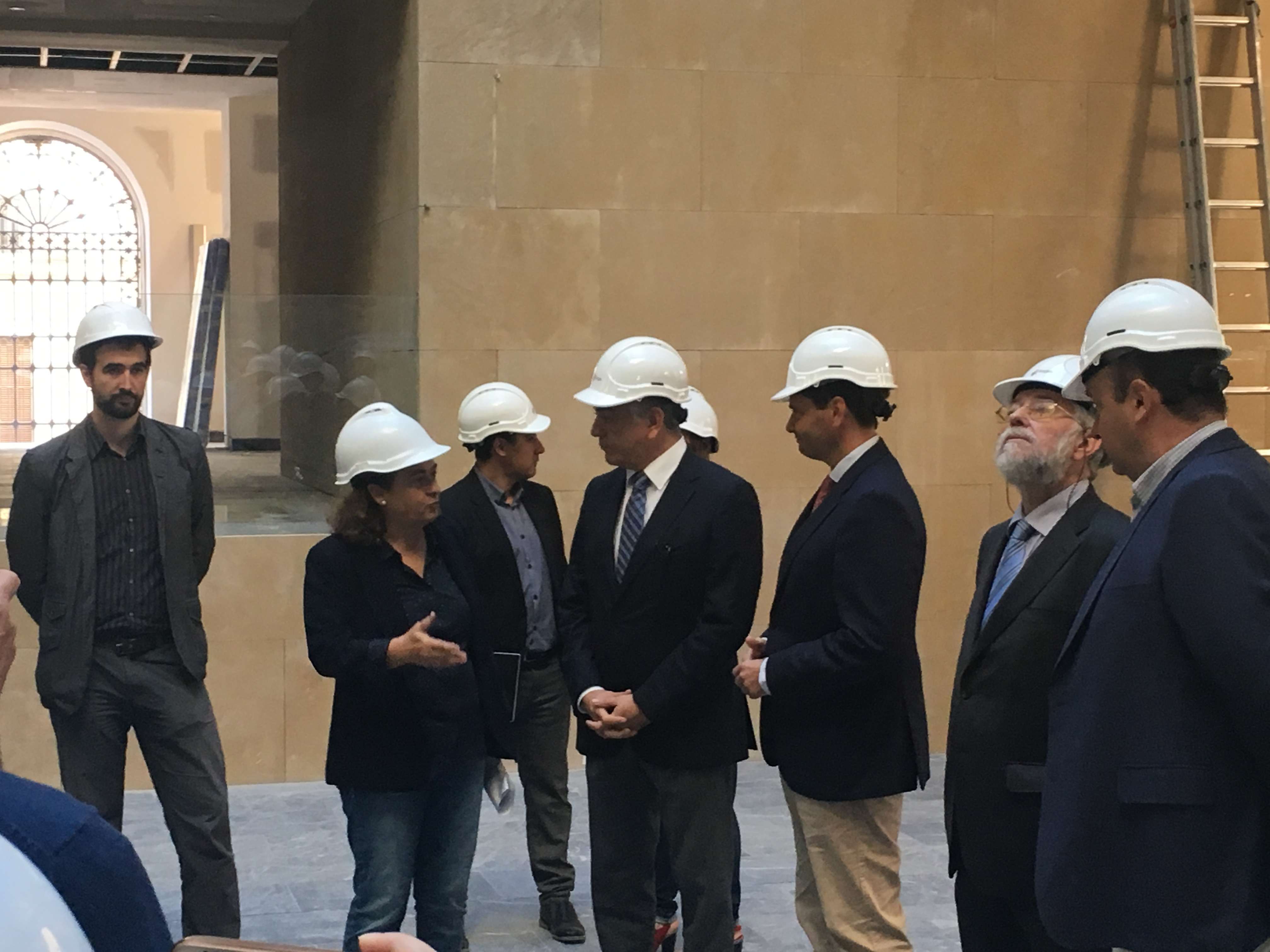 Visita Del Subsecretario De Interior, Luis Aguilera, A Las Obras Del Memorial
