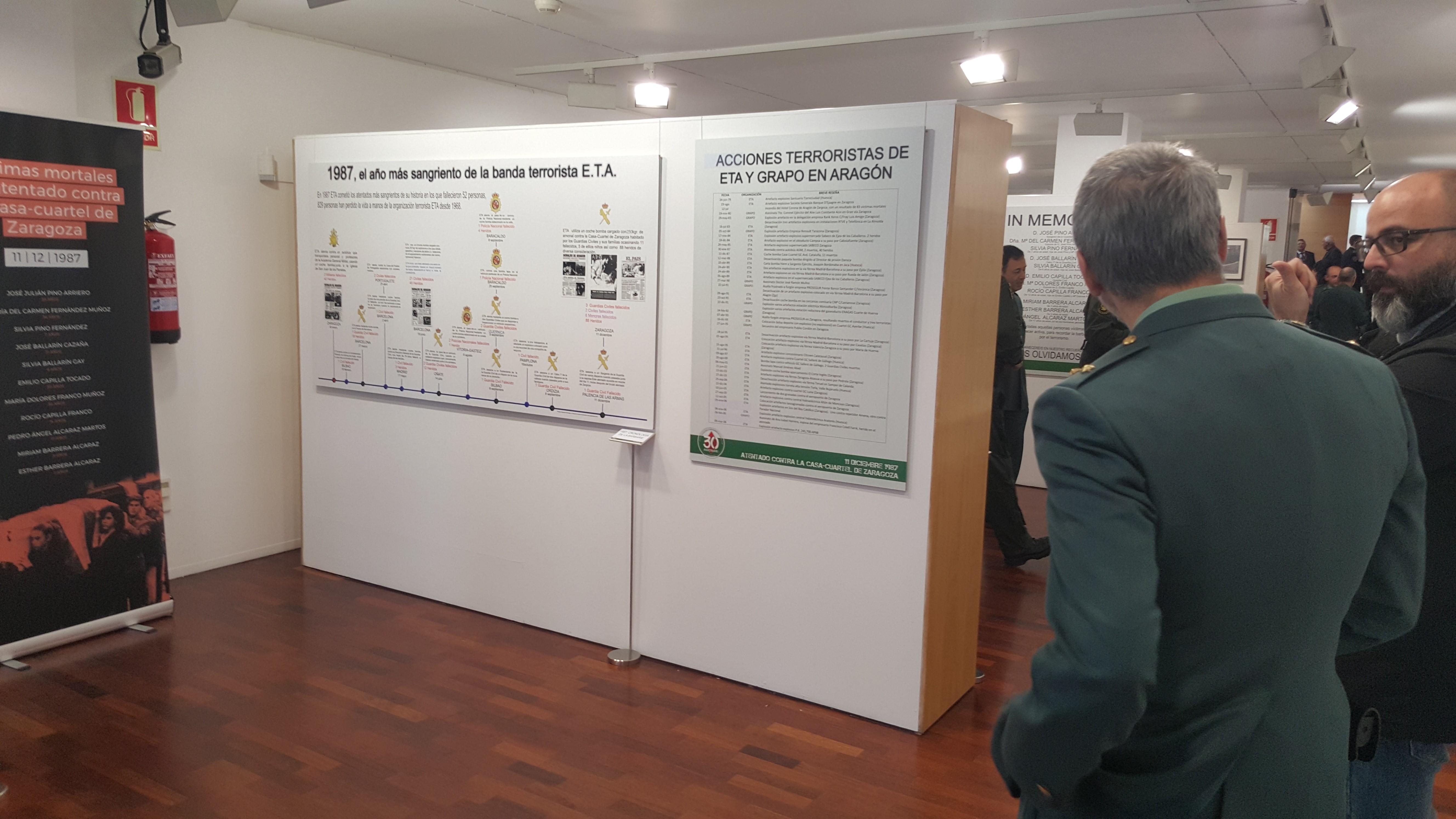 Inauguración En Huesca De La Exposición Sobre El Atentado De La Casa-cuartel De Zaragoza