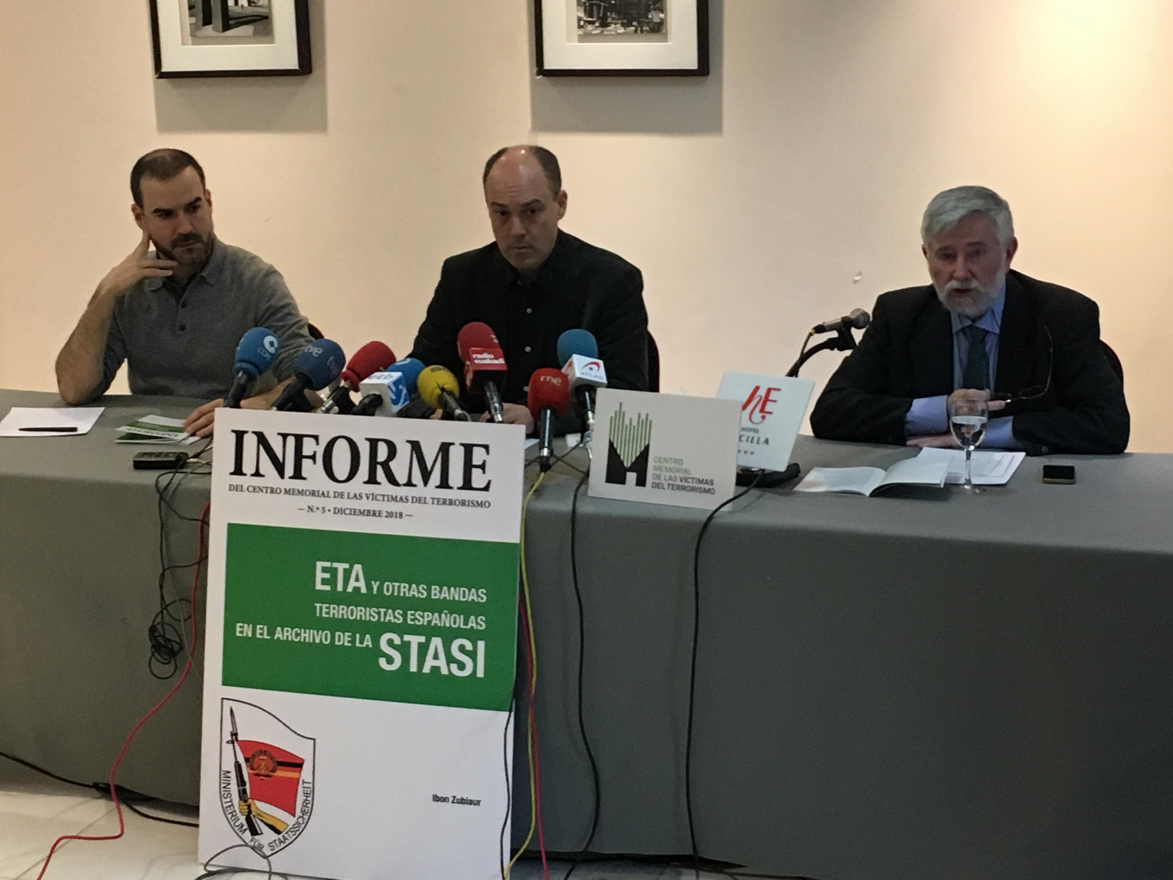 Presentación Del Informe Número 5 Sobre Relaciones Entre Grupos Terroristas Españoles Y La Stasi