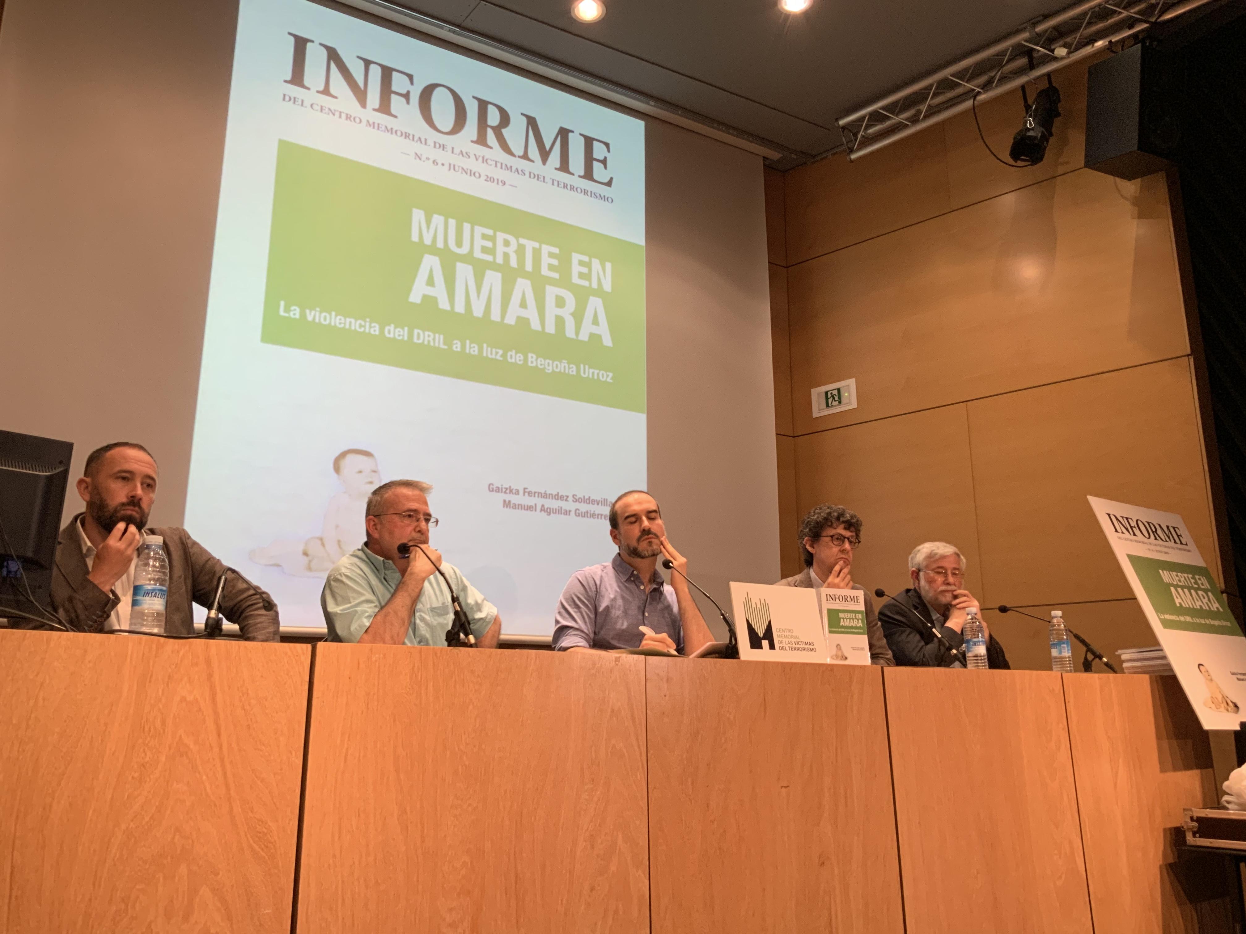 """Presentación Del Informe Número 6 """"Muerte En Amara. La Violencia Del DRIL A La Luz De Begoña Urroz"""""""