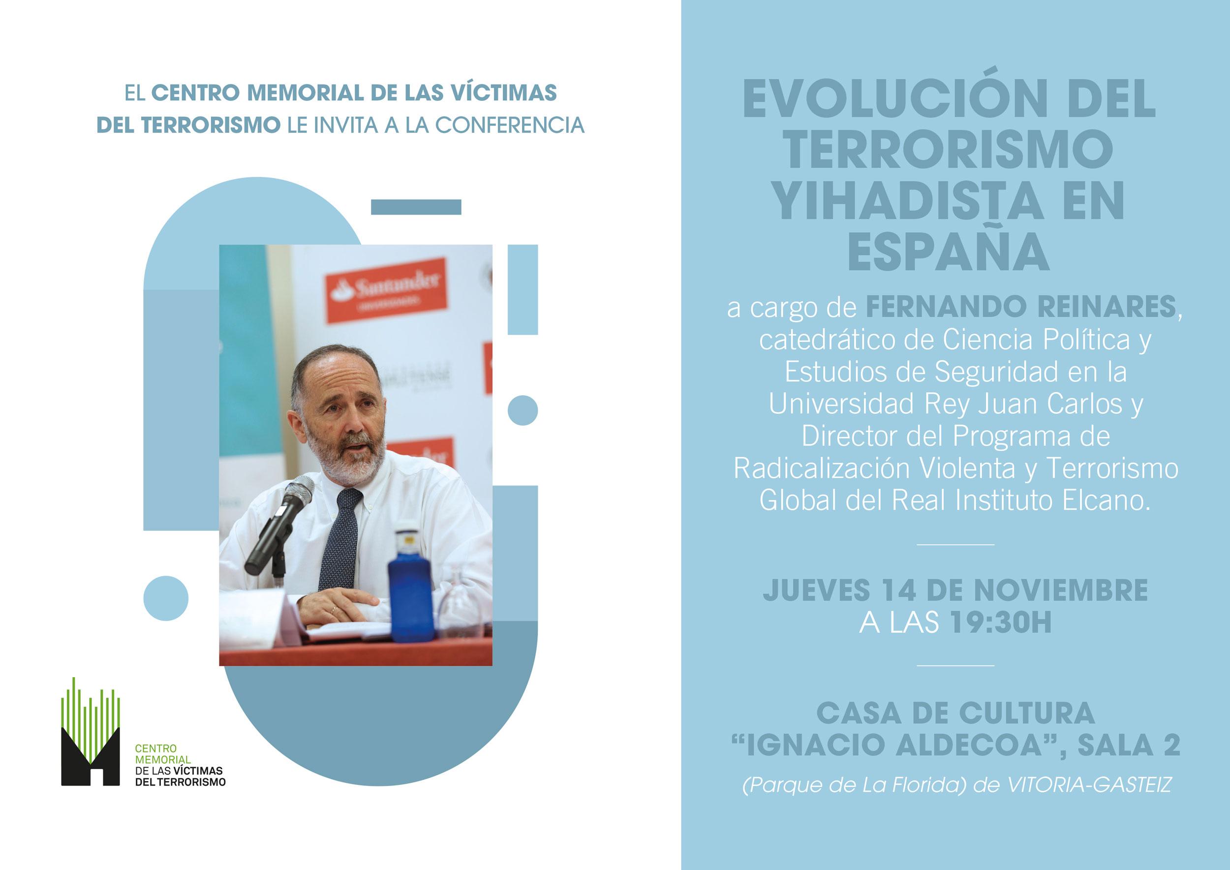 14-N: Conferencia Sobre Terrorismo Yihadista En España De Fernando Reinares En Vitoria