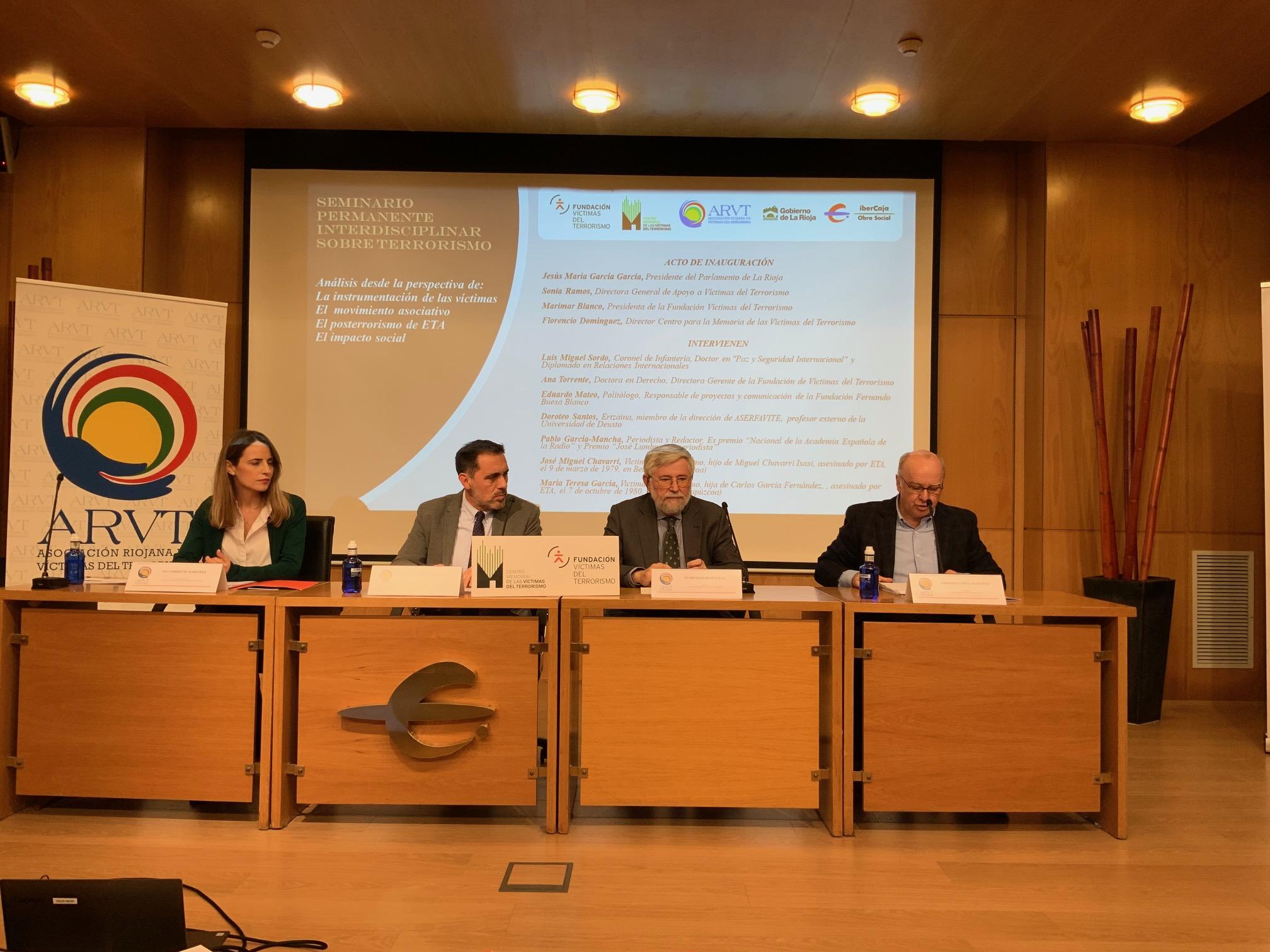 Seminario Sobre Terrorismo En Logroño Organizado Por FVT Y Memorial