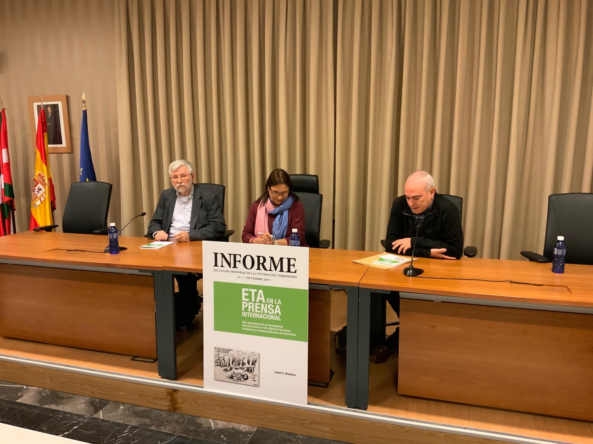 """Presentado El Informe Número 7 Del Memorial """"ETA En La Prensa Internacional"""""""