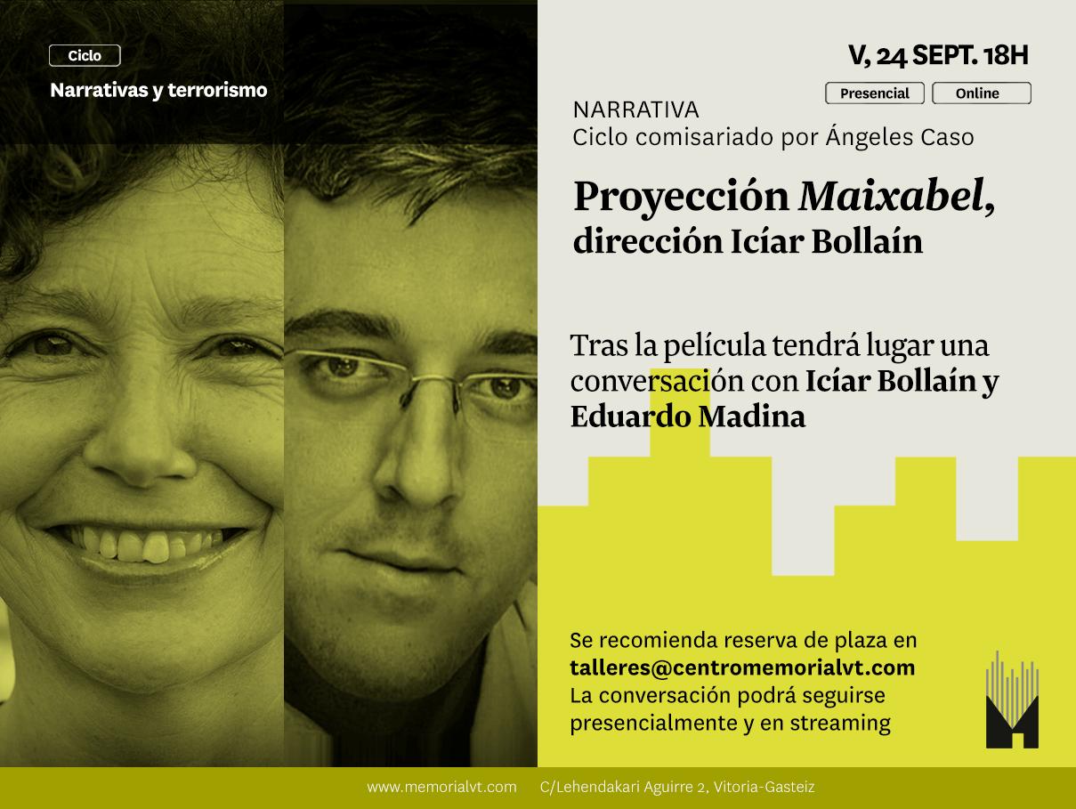 """Viernes 24-S: Iciar Bollaín Y Eduardo Madina Conversan En El Memorial Tras La Proyección De """"Maixabel"""""""